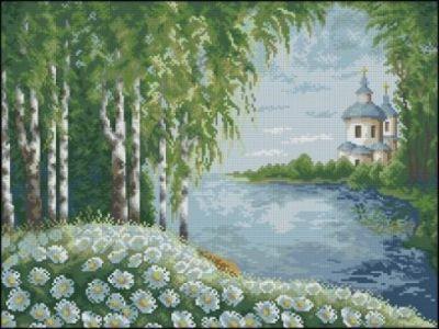 Березовый лес и собор